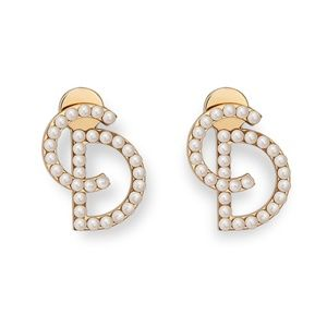 """Christian Dior """"Your Dior"""" faux pearl earrings"""